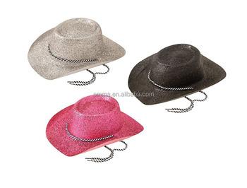 d49cf69ca08ad light Up Wild West Hats  Cowboy Glitter Fancy Dress Cowboys Western  Accessory Helmet HT20312