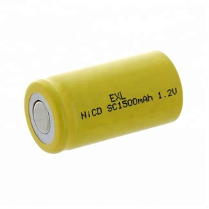 HT 1.2v nicd sub c size rechargeable battery 1.2v ni-cd sc 1500mAh emergency lighting battery/ customize battery accepted