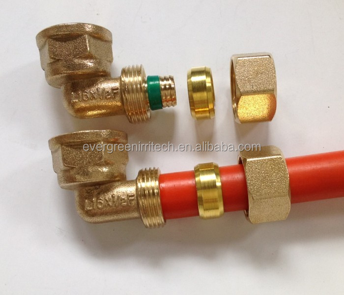 brass compression fittings for pex al pex pipes buy pap. Black Bedroom Furniture Sets. Home Design Ideas