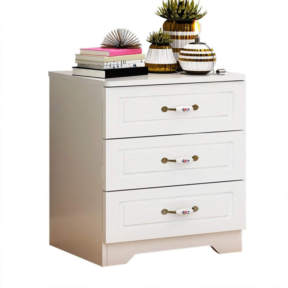 PM-Nightstands Bedside Cabinets Storage Cabinets Assembly Lockers Dormitory Bedroom Assembly Bedside Cabinets (Size : 483354)