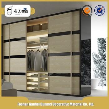 Pvc Overlaid Aluminum Wrought Beautiful Luxury Sliding Wardrobe Door