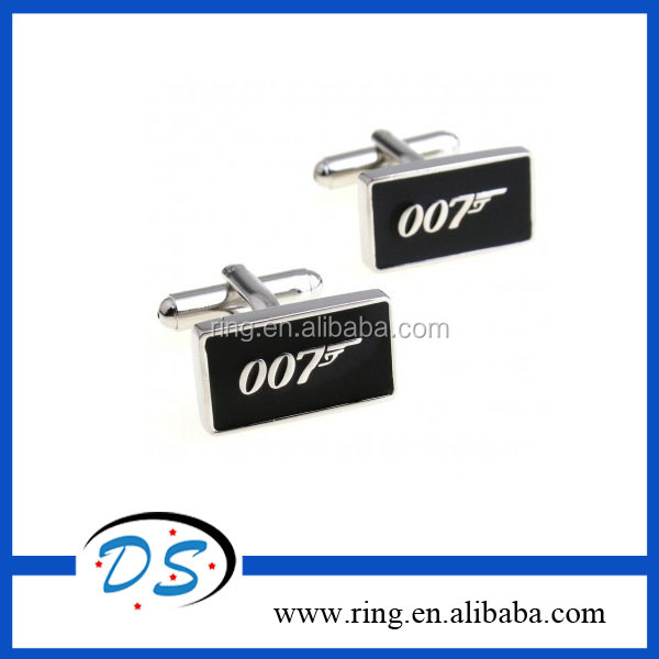 Fashion 2 PCS 007 Inspired Logo Cufflinks Men's Cuff Links Accessories