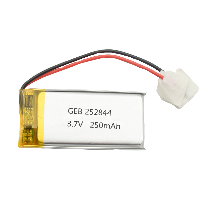 china factory direct sale 252844 3.7v 250mah lithium polymer rechargeable battery