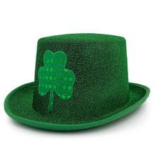 a838d10f55d33 MH-2302 duende Verde St Patrick Day traje Irlandês trevos Cartola
