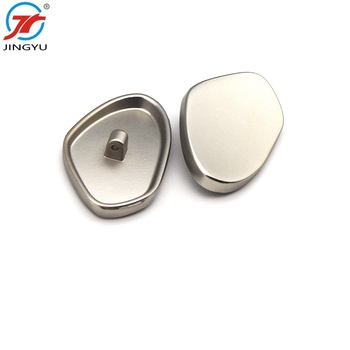 High quality fashionable decorative design metal flat shank buttons for ladies suits