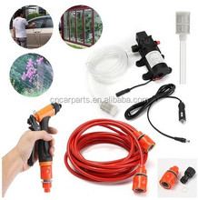 portable 12v 80w high pressure car washer for car wash cleaning