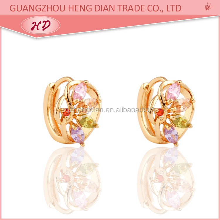 New Fashion Arabic Gold Earring Jewelry Design18k Gold Plated