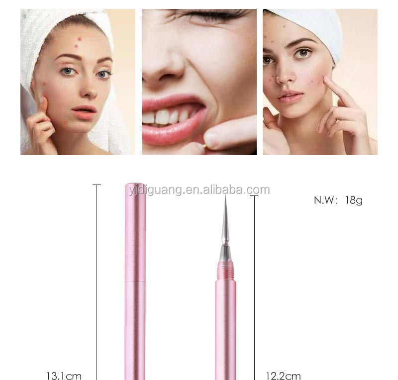 New item 2 in 1 blackhead Blemish Remover Cleaner Tool Acne Pimple Extractors Blackhead Remover Tool with Aluminum Handle