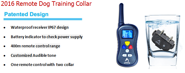 2017 Amazon China Pet Training New Remote Training Collar, Electric Shock Beeper Dog Behavior Remote Training Peted Dog Collar