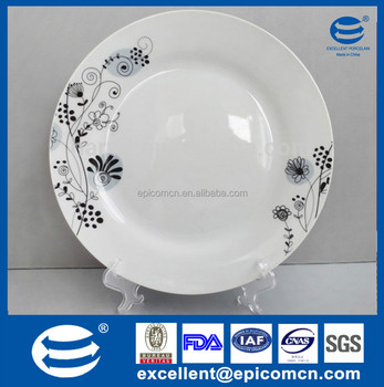 Wholesale Cheap Bulk Flower Porcelain Dinner Plate With Size 10.5\