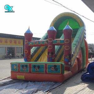 2018 Used commercial inflatable slide the city bounce jumbo round inflatable water slide for kids and adults