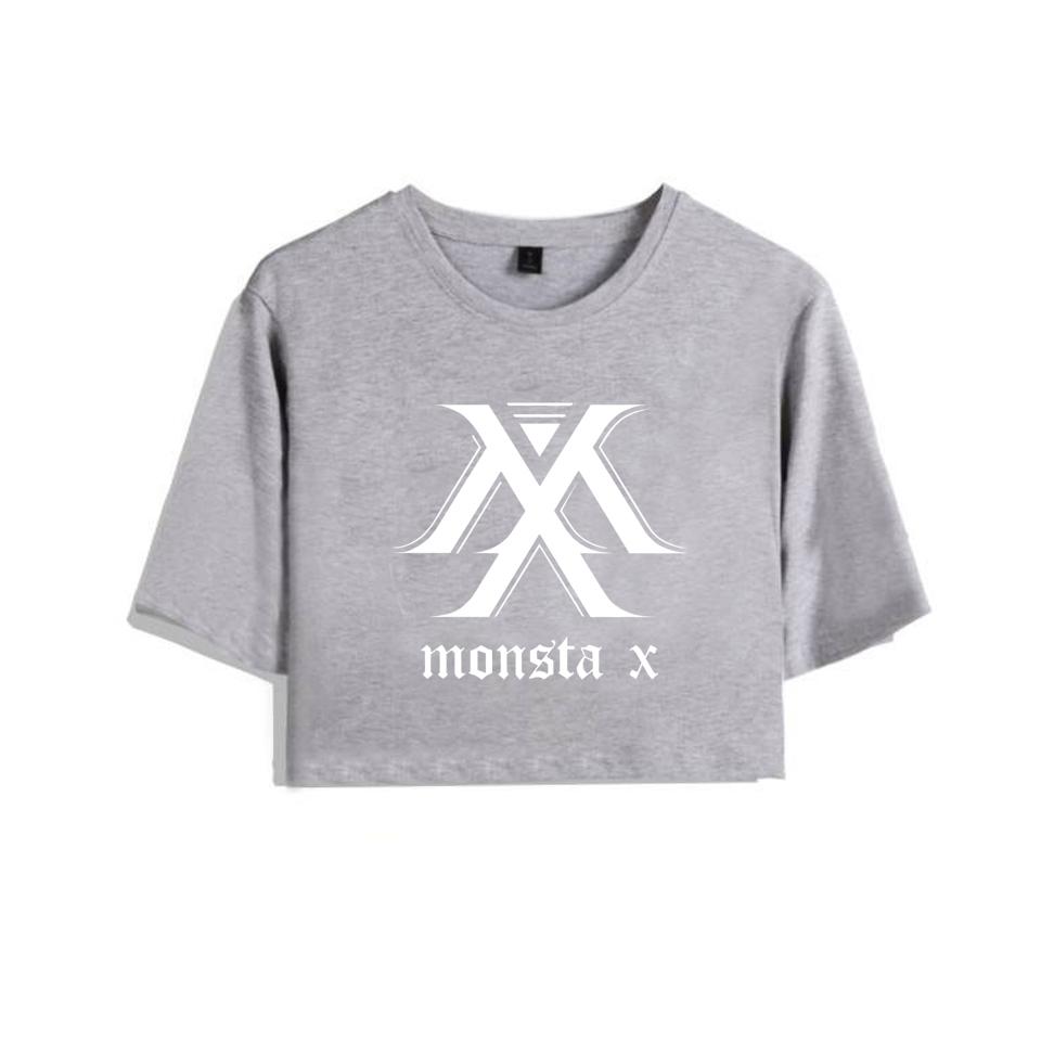 Harajuku Bts Bantang Boy Exo Got7 Blackpink Fashion Short T Shirt Women  Cotton Seventeen Monsta X Twice Tshirt Wanna One T-shirt