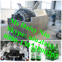 commercial bottle label remover machine/bottle recycle washing machine/bottle washing machine for recycling