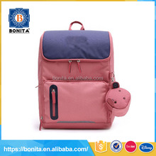 Leisure style pink lovely girls fancy 600d modern oxford school bag kindergarten school backpack bags with large luggage