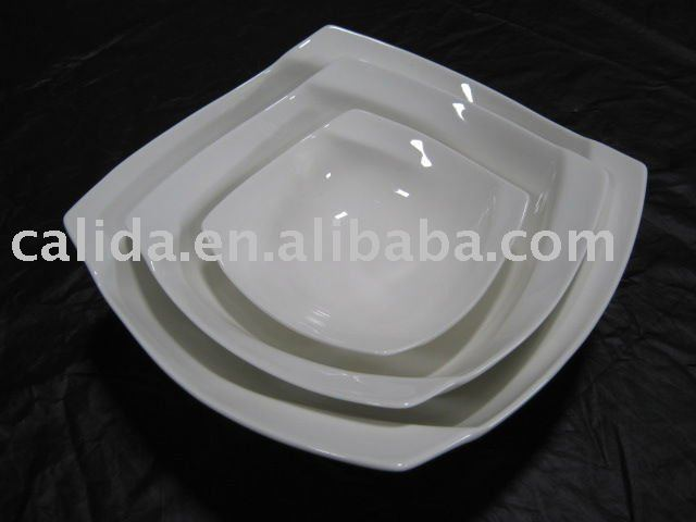 ceramic bowl square set of 3