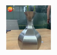 jyfu006 Factory Supply Silver Brushed Garden Stainless Steel Square Large Flowerpot / Big Metal Planter /Square Flower Pot