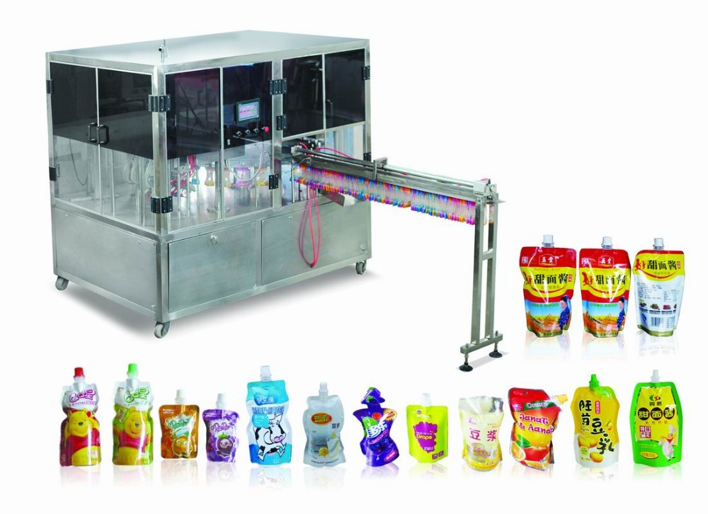 HF-ZLD-A automatic standing bag filling and capping machine