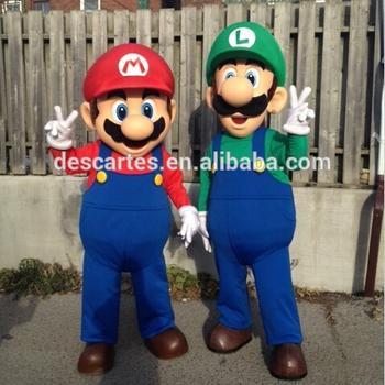 Top Sale Adult Super Mario Luigi Mascot Costume For Festival