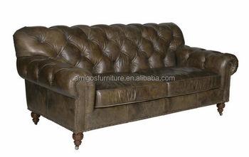 Old Fashioned Leather Sofa Aged Leather Sofa Buy Leather