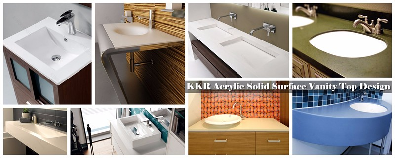 Durable Artificial Stone Solid Surface Paint Bathroom Countertop - Buy ...