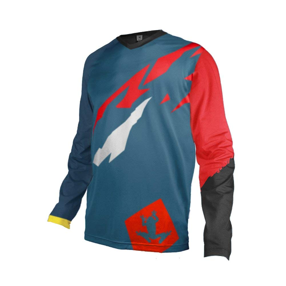 Uglyfrog Designs Downhill Jersey MTB Jersey Mens Bike Wear Short Sleeve Tops Rage Cycling/Motocross Clothes MTB Shirt