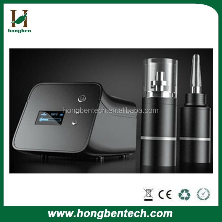 2016 New Arrived Full OLED Display Portable Desktop Titanium Waxy Enail Vapoizer Flowermate iHit