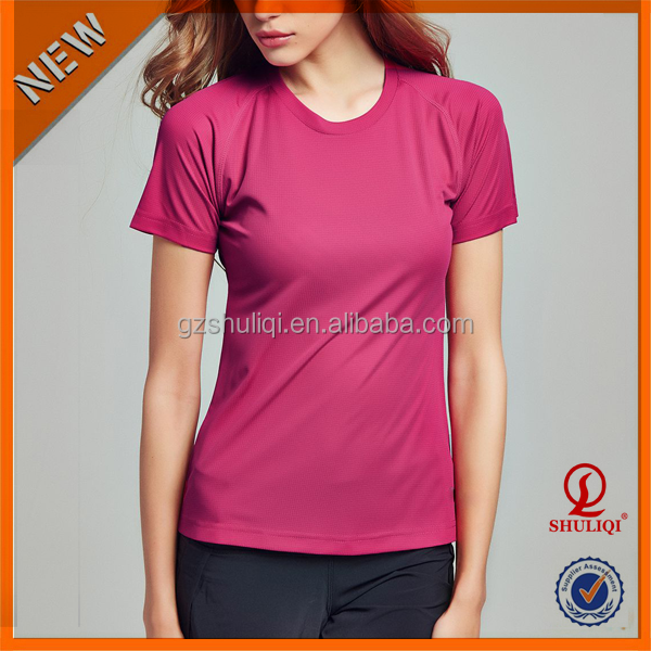 100% Cotton pure color soft wear t-shirt for women/wholesale blank t shirt made by high quality t shirt fabric