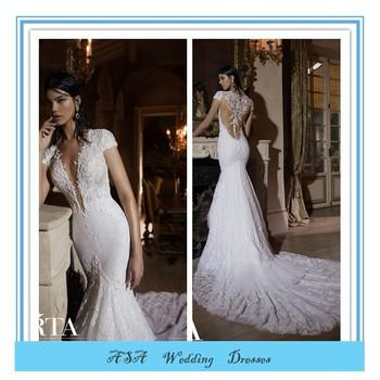 f1e80627679ac Latest Modern High Quality Sexy Mermaid Wedding Dress Berta Bridal Deep  V-neck Sheer Back Lace Wedding Dresses 2015(BTB19), View Wedding Dresses  2015, ...