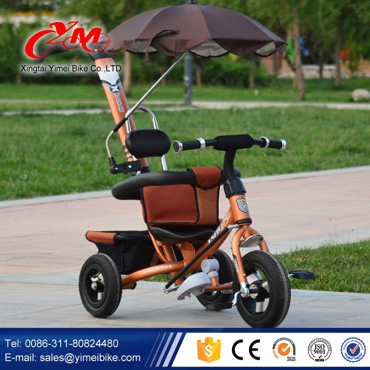 Alibaba Online Baby Tricycle With Wagon Sunshade Roof