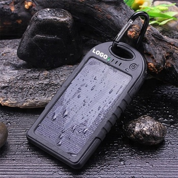 2020 Custom Logo Dual USB Mobile Phone Battery Charger Waterproof Solar Power Bank