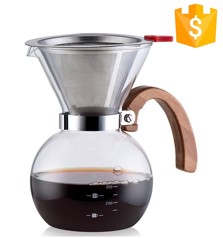 High Standard Top quality filter cone 304 stainless steel metal coffee dripper