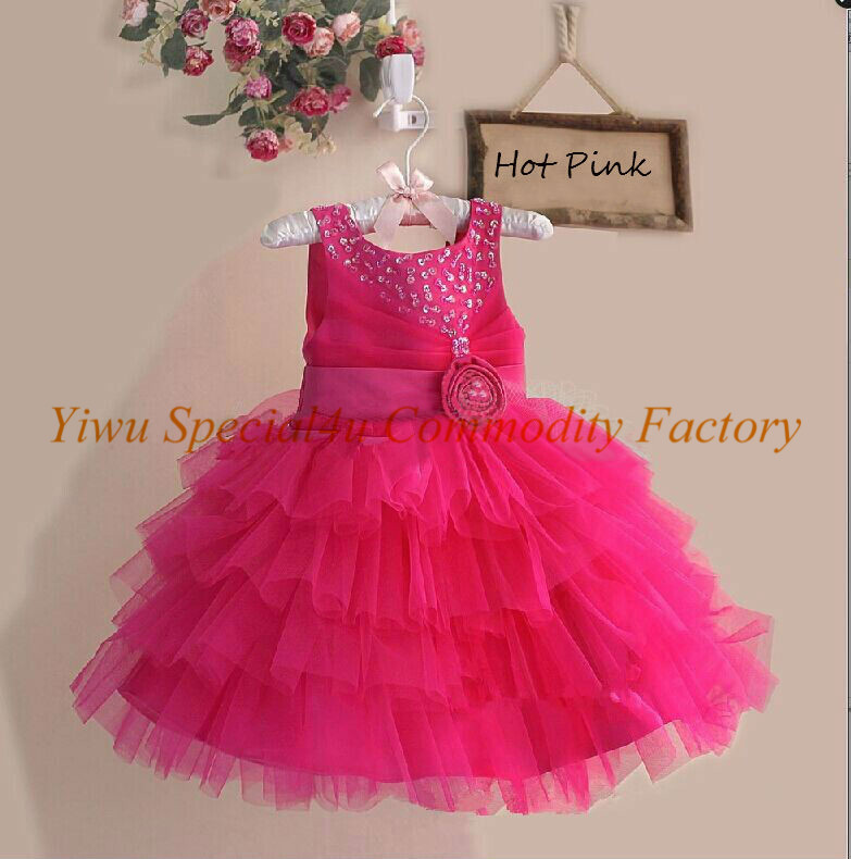 Girl Party Wear Western Dress Children Frocks Designs One Piece ...