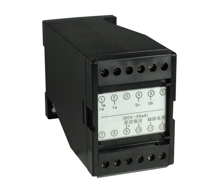 Three-phase power factor transducer