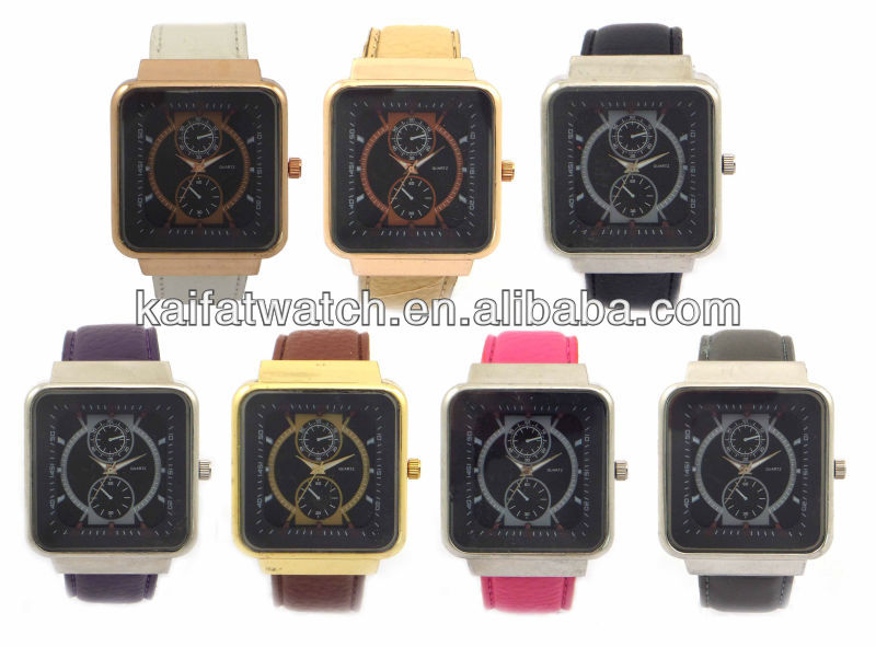 latest!!!mix color fashion square single watch trend design quartz watch/cheap watches in bulk/watch manufacturers in china