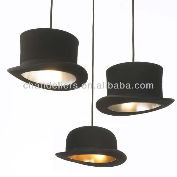 Nuovo e moderno tessuto bowler/alto hat soffitto luce lampada a ...
