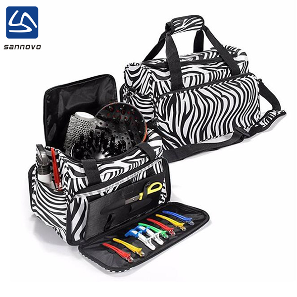 wholesale fashion zebra-stripe travel salon hairdressers tool bag
