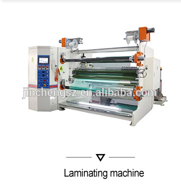 Double shafts adhesive tape jumbo roll winding machine