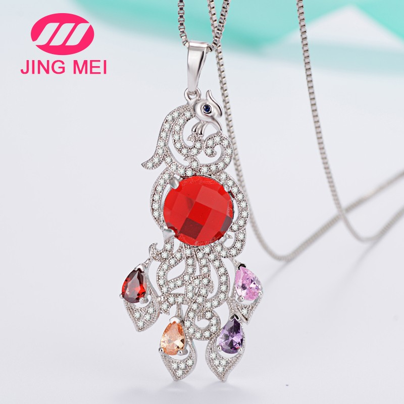 Fantasy hign quality color crystal copper jewels,Latest designs copper jewels pendants