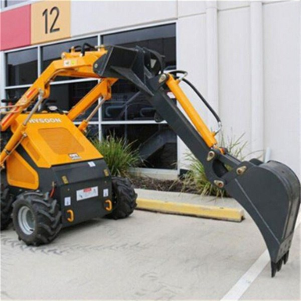 mini digger with auger