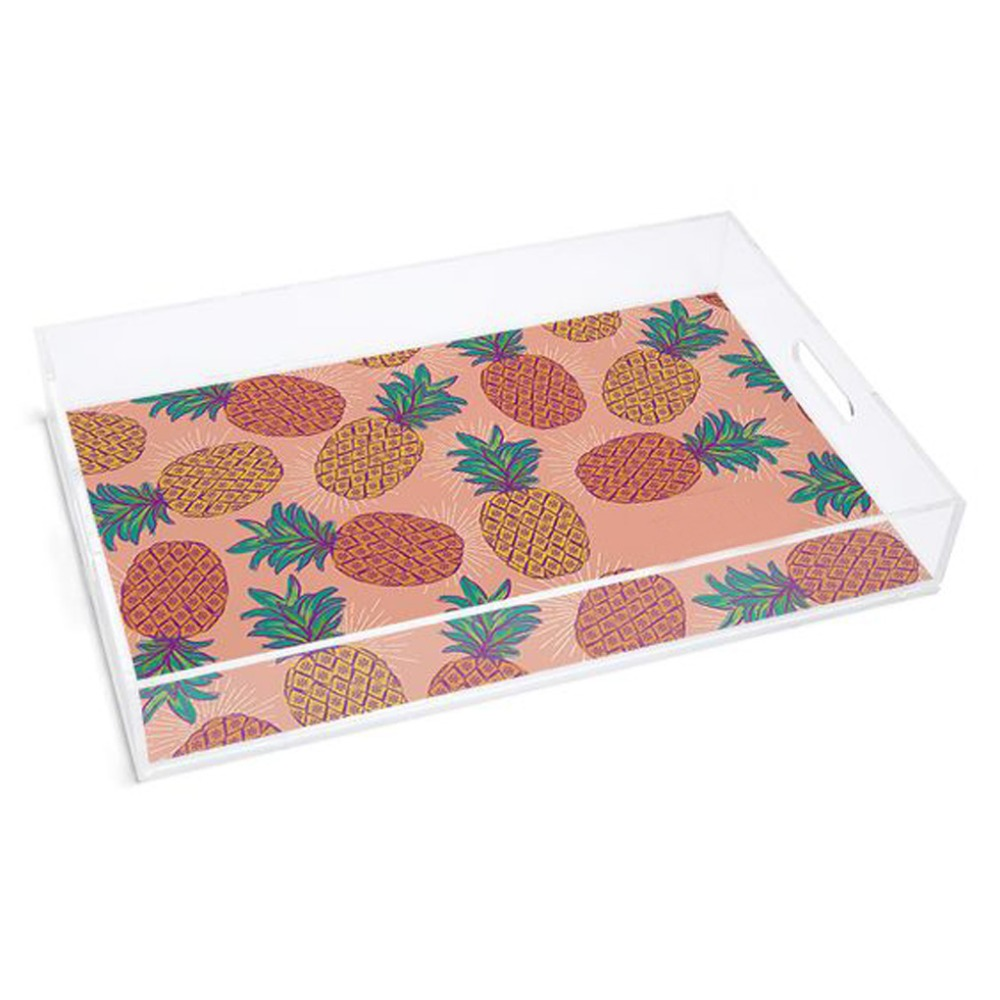 Acrylic Paper Insert Tray, Plexiglass Plastic Serving Tray Wholesale