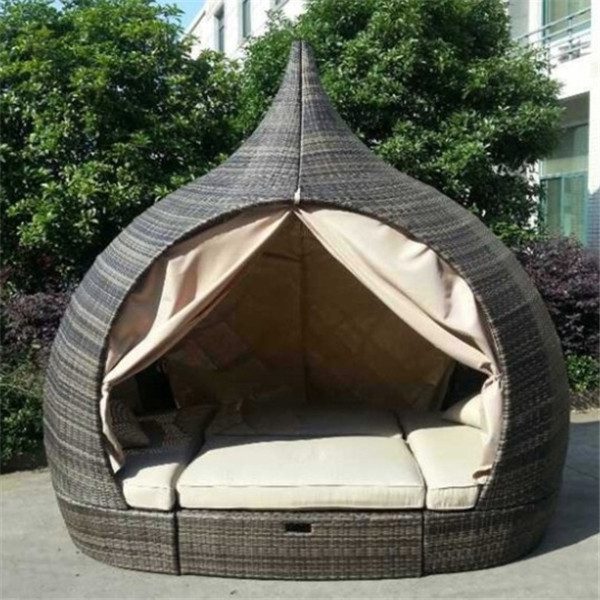 2015 Hot Verkopen Rieten Outdoor Bed Designmeubelen Buy