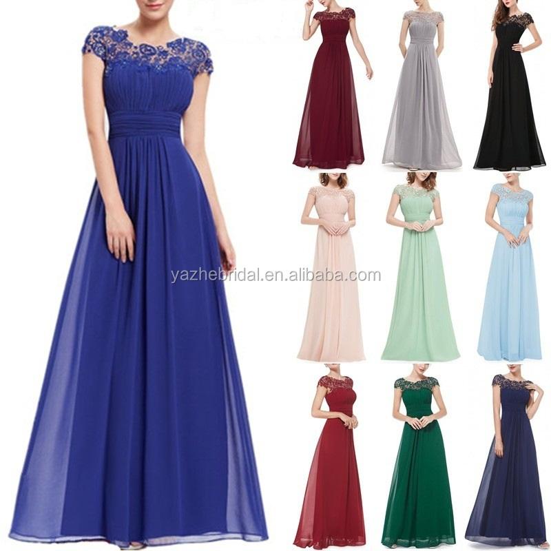 Wholesale Long Chiffon Floor Length Lace A Line Women\'s Fashion Summer  Dresses 2018 Cheap Plus Size Burgundy Bridesmaid Dresses - Buy Bridesmaid  ...