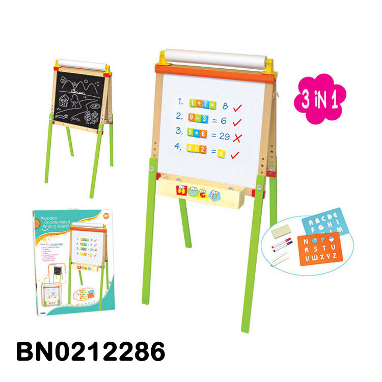 Kids Drawing Toy Double Sides Wooden Drawing Board Writing board