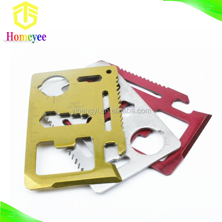 Outdoor mini stainless steel pocket multi tool credit card