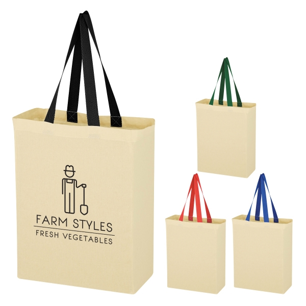 a5d48acd3 Custom silk screen printing natural 5 oz. cotton canvas grocery tote bag