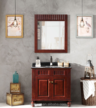 Factory direct small size antique style solid wood bathroom cabinet
