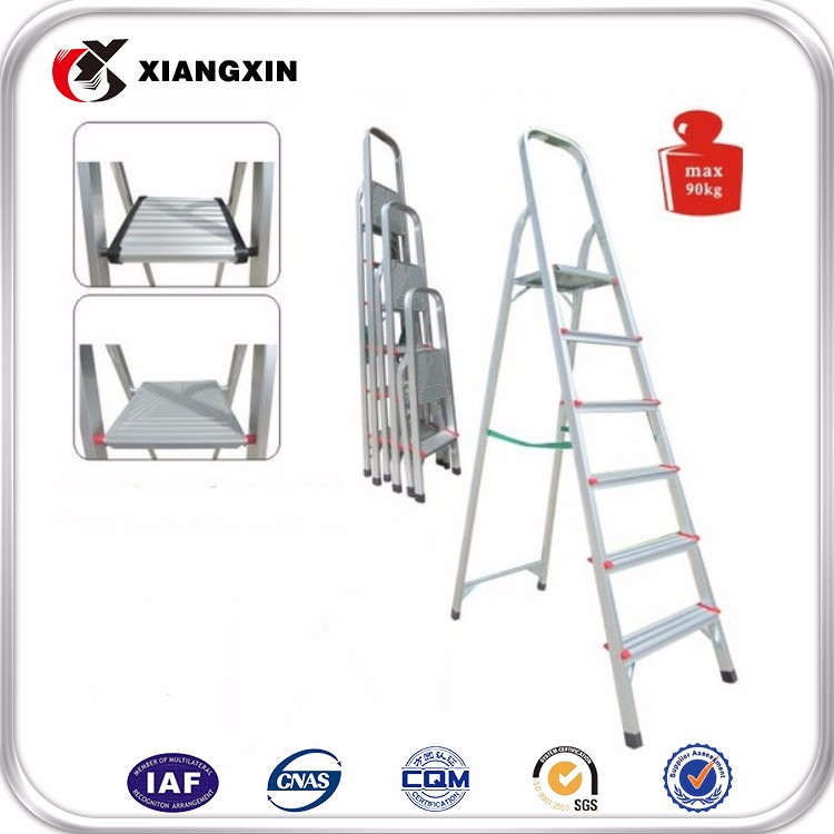 hot sale 5 step domestic plastic Aluminum step ladder