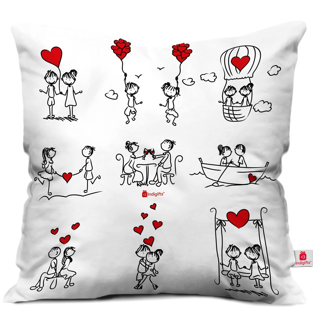 Get Quotations Indibni Valentines Day Gifts A Cute Love Story Of Stick White 18 X18