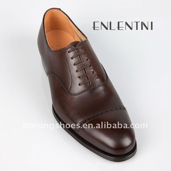 Genuine leather name brand men dress shoes