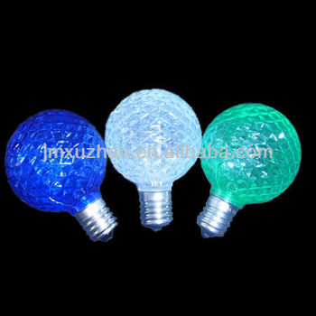 120v Ul 0.5w Led Bulb White G50 E17 Base Strawberry Shape ...
